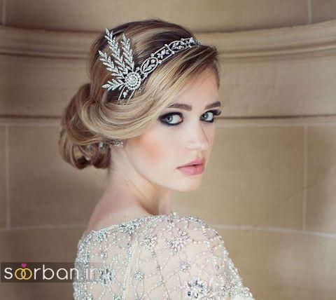 مدل مو کوتاه عروس با تل