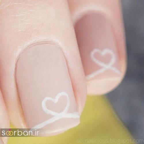 مدل ناخن عروس ساده و زیبا - فرنچ ناخن پدیکور و مانیکور ناخن عروس 96