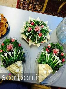 تزیین نون و پنیر و سبزی سفره عقد-02