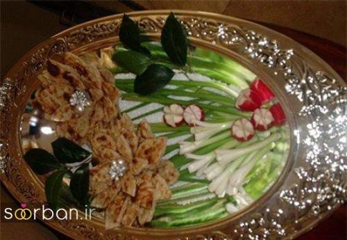 تزیین نون و پنیر و سبزی سفره عقد-03