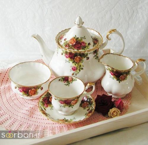 سرویس چای خوری جهیزیه عروس-13