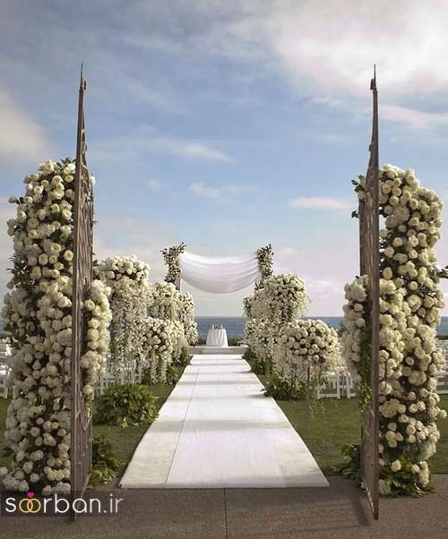 تزیین ژورنالی ورودی باغ تالار عروسی 2017