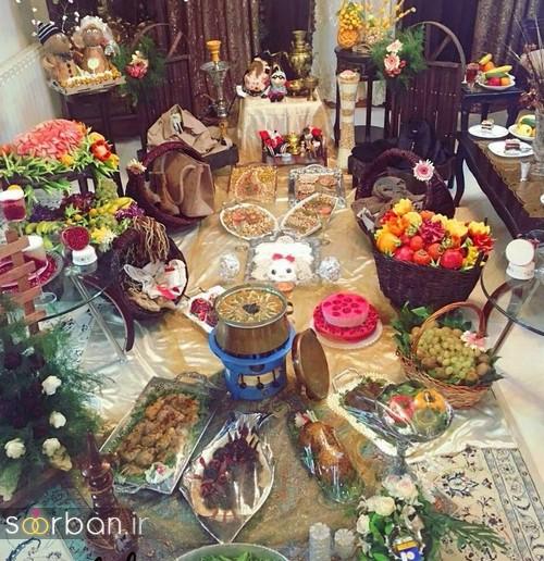 گالری تزیین شب یلدا عروس و میز شب چله-18