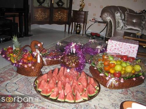 گالری تزیین شب یلدا عروس و میز شب چله-14