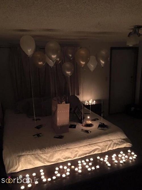تزیین اتاق خواب ولنتاین عروس