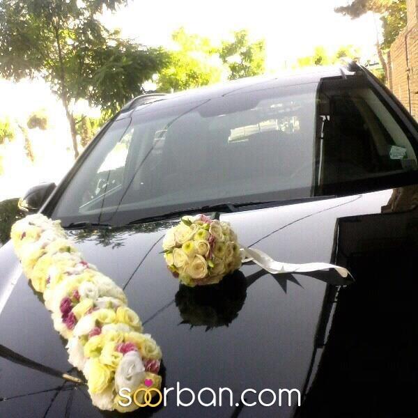 گل آپادانا ماشین و دسته گل عروس مشهد1