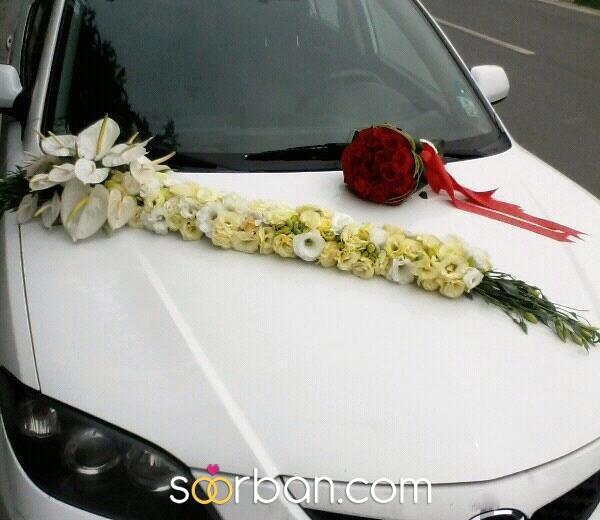 گل آپادانا ماشین و دسته گل عروس مشهد0