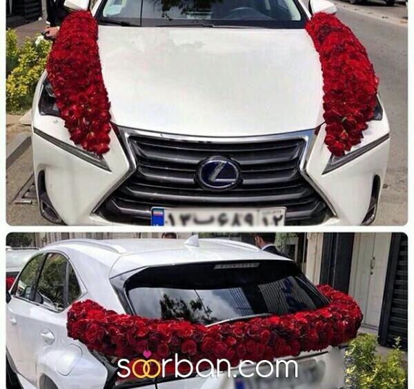 ماشین و دسته گل عروس گل آرایی مشهد0