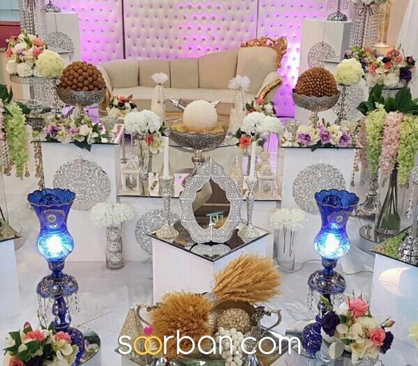 سفره عقد جایگاه عروس و داماد در شیراز