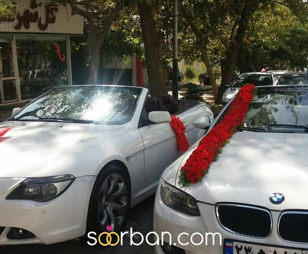 گل آرایى ماشین عروس در تهران1