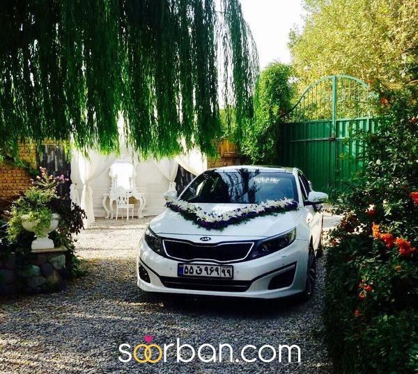 گل آرایى ماشین عروس در تهران0