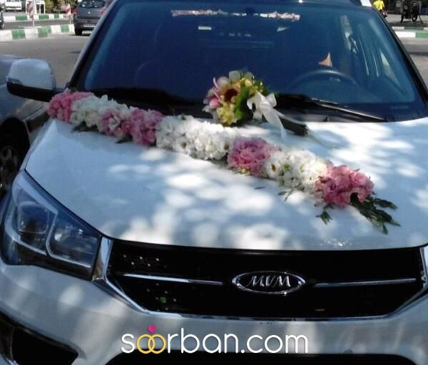 ماشین عروس + دسته گل هدیه تهران