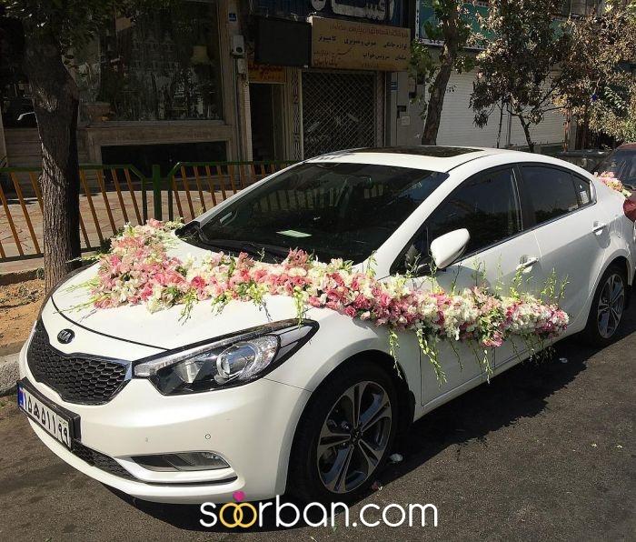 گل آرایی ماشین عروس ژورنالی در تهران6