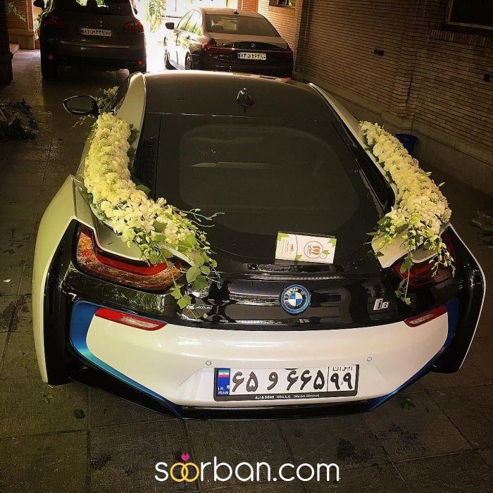 گل آرایی ماشین عروس ژورنالی در تهران5