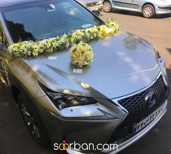 گل آرایی ماشین عروس ژورنالی در تهران3