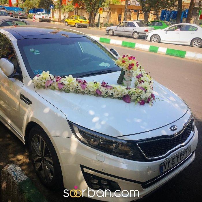گل آرایی ماشین عروس ژورنالی در تهران2