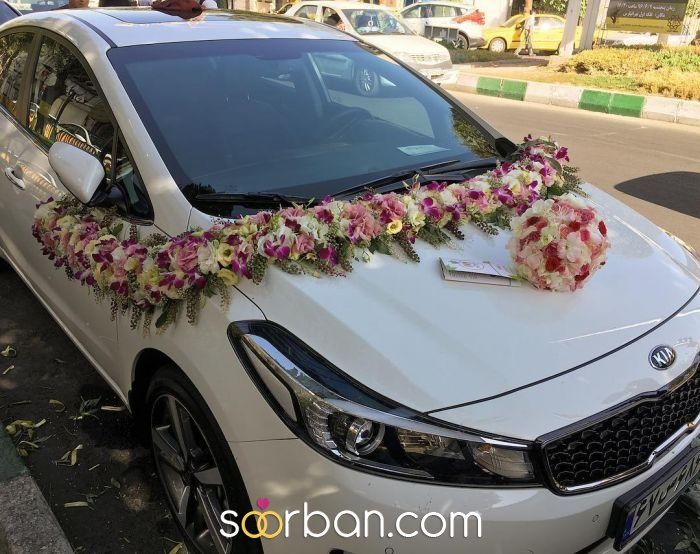 گل آرایی ماشین عروس ژورنالی در تهران1