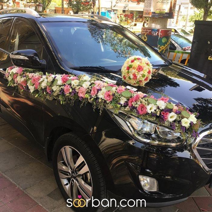 گل آرایی ماشین عروس ژورنالی در تهران0