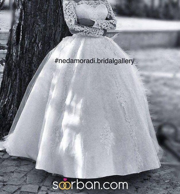 طراحی و دوخت لباس عروس ندا مرادی در اصفهان1