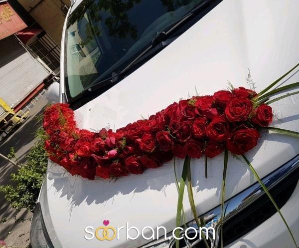 ماشین عروس و دسته گل عروس