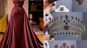 ست لباس نامزدی با تاج | شیکترین لباسهای نامزدی 2021 اینستاگرام