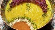 تزیین شله زرد با ایده های جالب و زیبا | تزیین شله زرد با گل محمدی