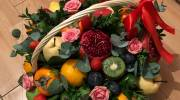 تزیین سبد میوه شب یلدا