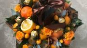 تزیین دسته گل میوه به روش اروپایی