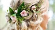 زیباترین مدل مو عروس با گل طبیعی جدید