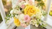 دسته گل عروس زرد زیبا و جدید