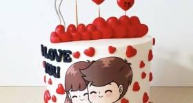 جدیدترین نوع کیک ولنتاین سال 2021