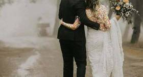 تصاویری از جدیدترین ایده های عکاسی عروس و داماد زیر باران