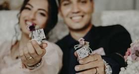 ژست های جدید و زیبا با حلقه ازدواج در جشن عقد