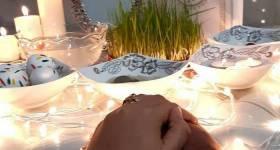مدل سفره هفت سین عروس برای نوروز 1400 _ (تزیین سفره هفت سین عروس و داماد)