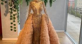 مدل لباس نامزدی عروس رنگ گلبهی 2021 | مدل لباس نامزدی 1400 گلبهی | لباس نامزدی ساده اما شیک گلبهی