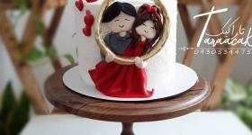 تزیین کیک سالگرد ازدواج 2021 | روش تزیین کیک سالگرد ازدواج