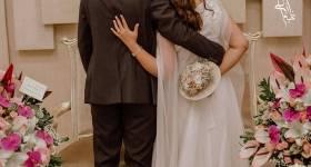 عکس عروس و داماد سر سفره عقد 2021 | عکس عقد محضری عروس و داماد