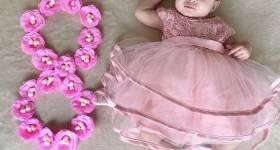 ایده عکس ماهگرد نوزاد دختر 2021 | مدل عکس نوزاد دختر