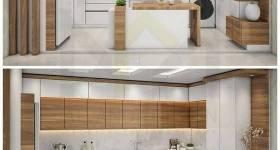مدل کابینت آشپزخانه 2022 | کابینت آشپزخانه کوچک با طرح های مدرن