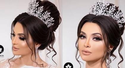 60 مدل مو عروس با مو مشکی جدید 2020