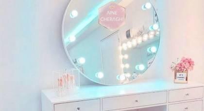 جدیدترین مدل آینه چراغی 2021 فانتزی مخصوص کلوزت روم