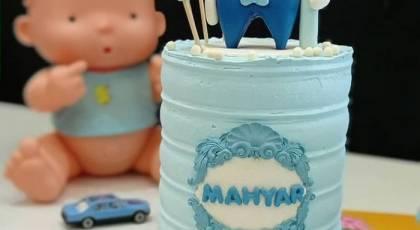 مدل کیک جشن دندونی پسرانه 1400 | (مدل های جدید لاکچریبا فوندانت و کیک دندونی خانگی)