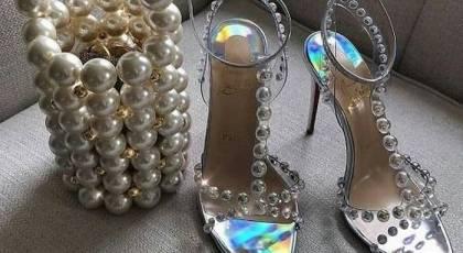 مدل کفش عروس مرواریدی 2021   مدل کفش عروس جواهرنشان 1400   ژورنال کفش عروس 2021