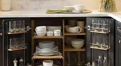ایده کابینت های جادار   کابینت جادار برای آشپزخانه کوچک