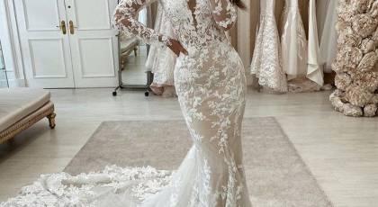 لباس عروس خوشگل 2022 | لباس عروس زیبا و پوشیده