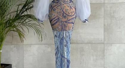 مدل لباس مجلسی 2022 ترکیه | لباس مجلسی بسیار جذاب رنگ روشن باکلاس