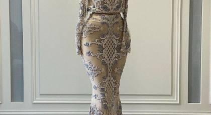 مدل لباس مجلسی آستین دار بلند | عکس لباس مجلسی آستین کلوش جدید