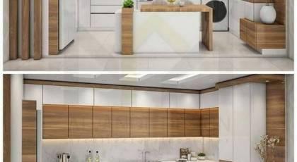 مدل کابینت آشپزخانه 2022   کابینت آشپزخانه کوچک با طرح های مدرن