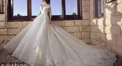 گالری مدل لباس عروس پرنسسی پفی و دنباله دار جدید