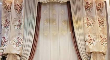 پرده های شیک پذیرایی جهیزیه عروس 2018 + تصاویر